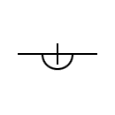 Bypass Line of the gas or oil symbol